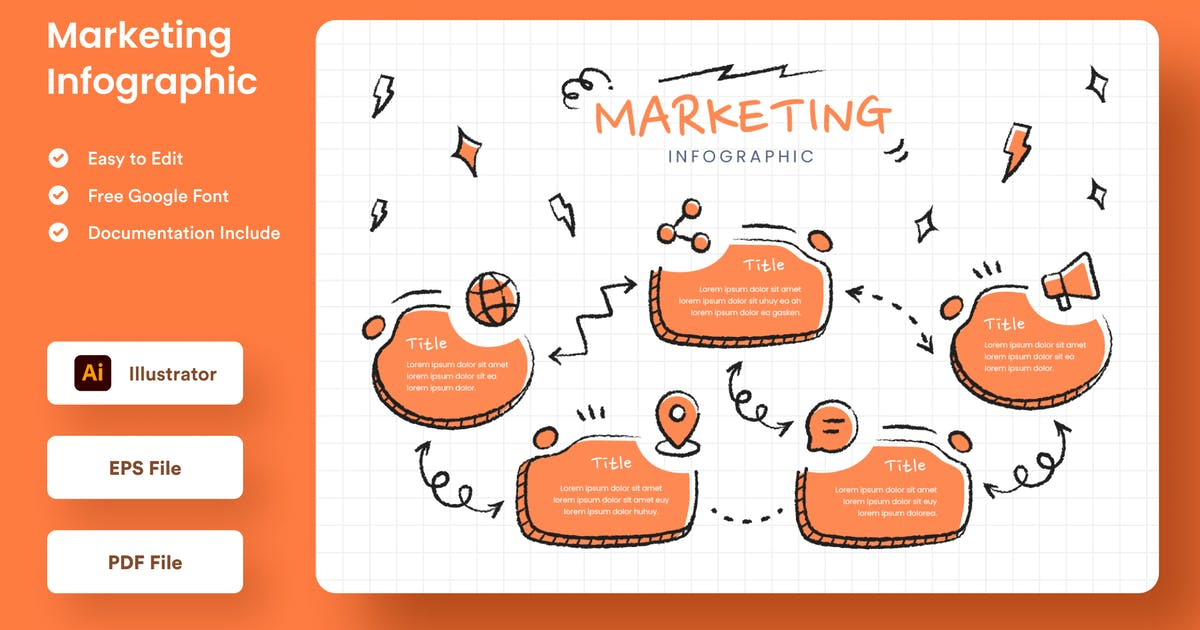 Download Marketing Infographic - Muzitemp by GranzCreative