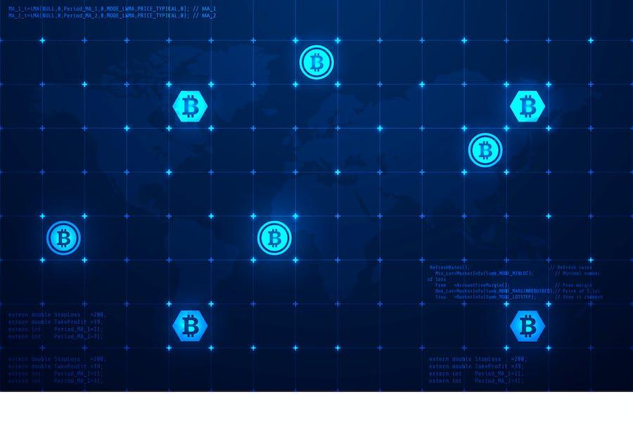 Bitcoin Technology Vektor Illustration 10