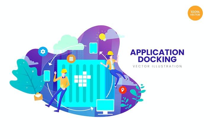 Thumbnail for Concept d'illustration Vecteur d'accueil des applications