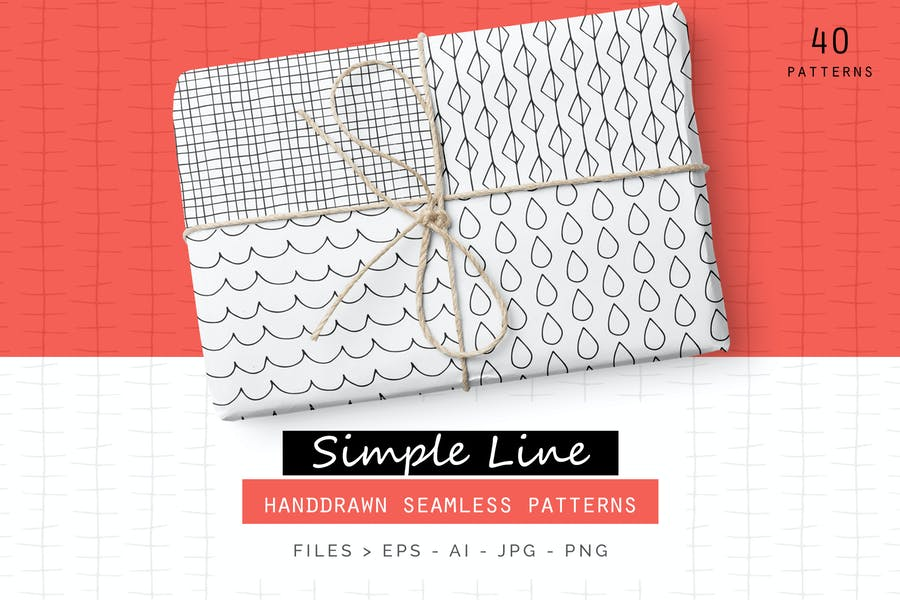 Simple Line Handdrawn Patterns