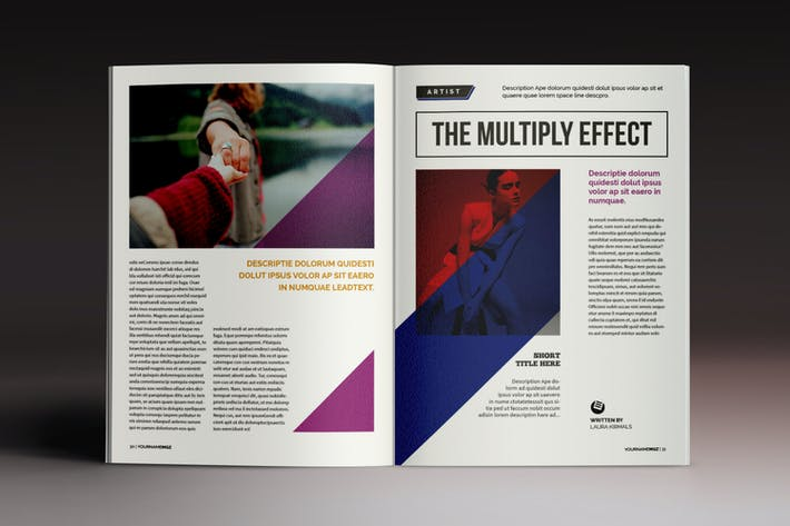 Thumbnail for The Multiply Magazine Indesign Template