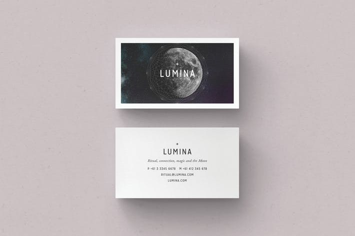 Thumbnail for LUMINA Business Card Template