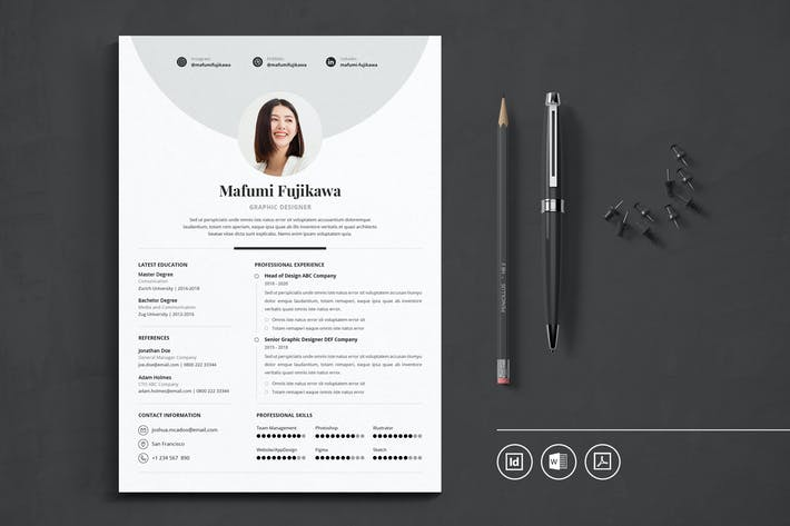 Thumbnail for Professional CV Resume Indesign Template Vol.29