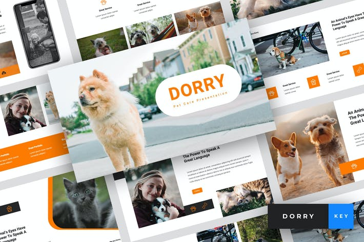 Thumbnail for Dorry - Pet Care Keynote Template