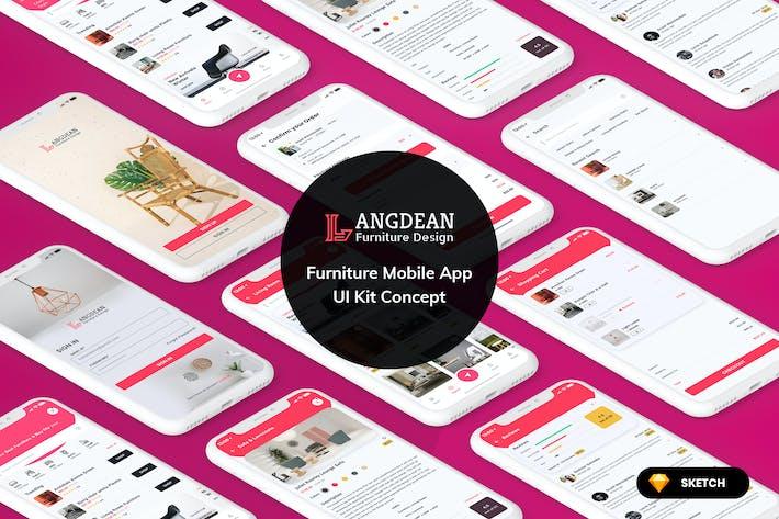 Thumbnail for Furniture Mobile App UI Kit Light Version (SKETCH)