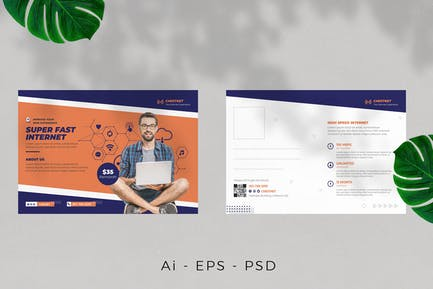 Wireless Internet Provider Postcard Design