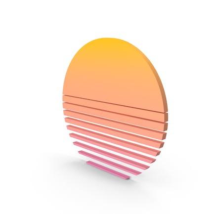 Vaporwave Sun