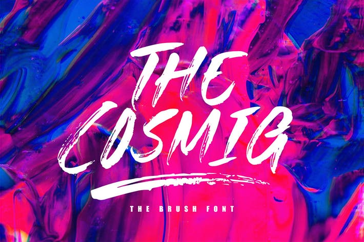 Thumbnail for The Cosmig - Brush Font