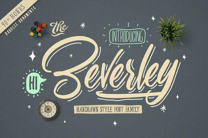 Thumbnail for Beverley Font Family (Extra Bonus)