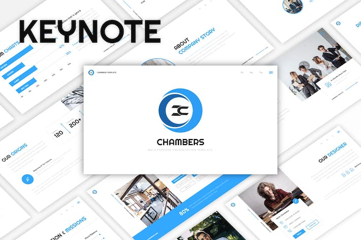 Thumbnail for Chambers - Business Keynote Template