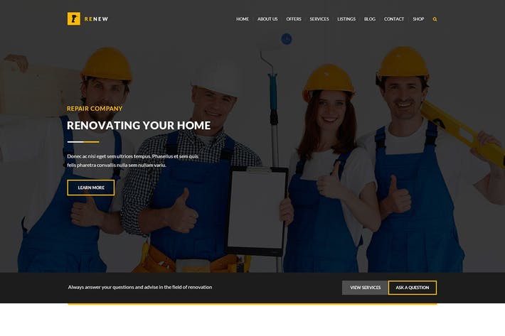 Thumbnail for Renew - Renovation, Repair & Construction PSD