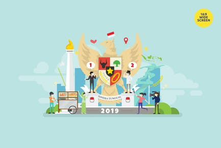Indonesia Election Day Vector Illustration Concept