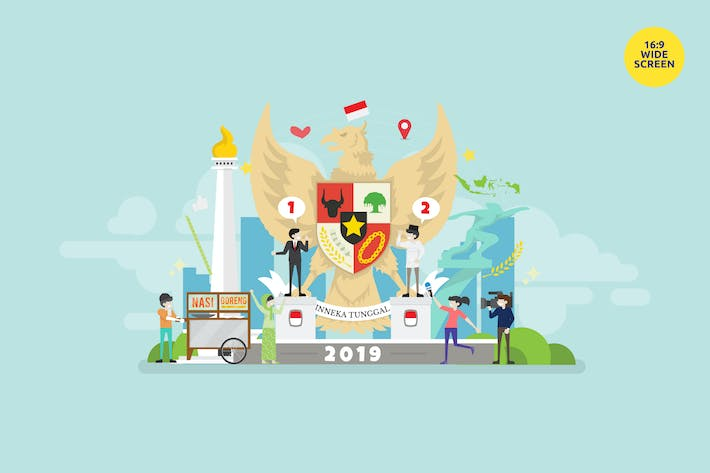 Thumbnail for Indonesia Election Day Vector Illustration Concept