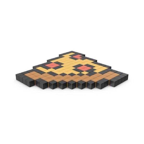 Pixelated Pizza Icon