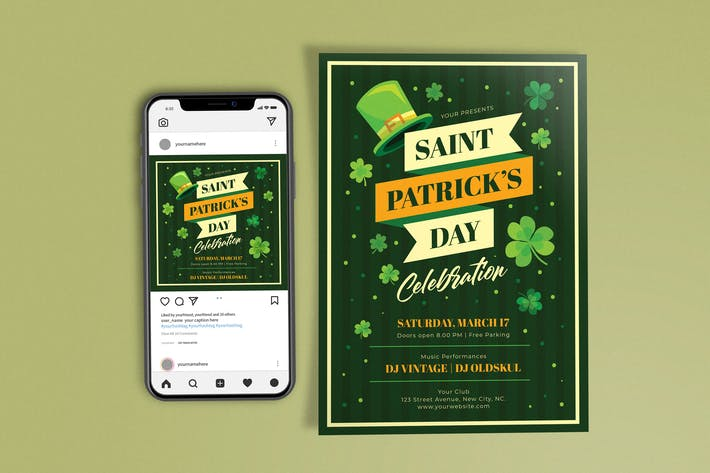 Dépliants de célébration de la Saint-Patrick