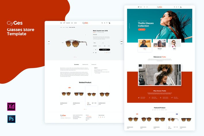 Thumbnail for Gyges - glasses Store Template