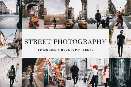 50 Street Photography Presets and LUTs