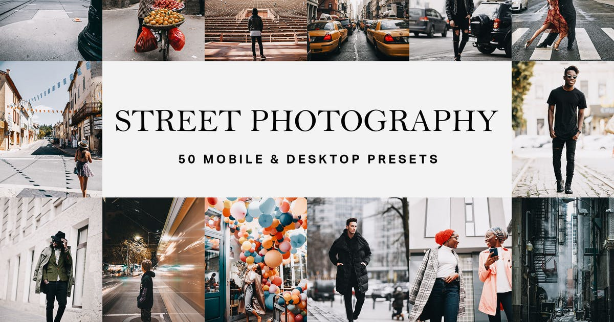 Download 50 Street Photography Presets and LUTs by sparklestock