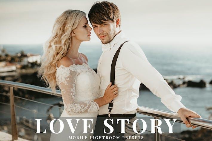 Cover Image For Love Story Mobile Lightroom Presets