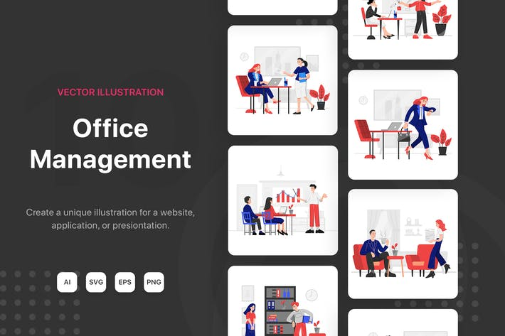 Thumbnail for Office Management Illustrations
