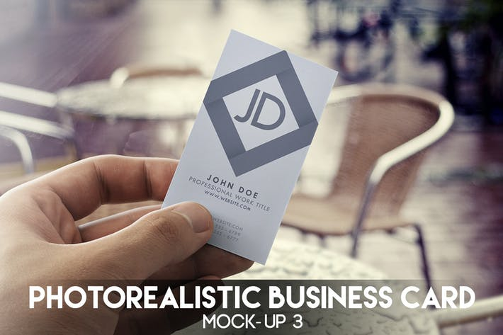 Thumbnail for Photorealistic Business Card Mock-Up 3
