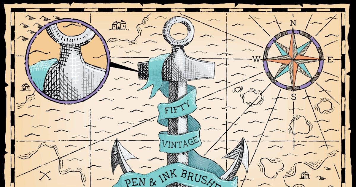 Download Vintage Pen and Ink Brushes by JRChild