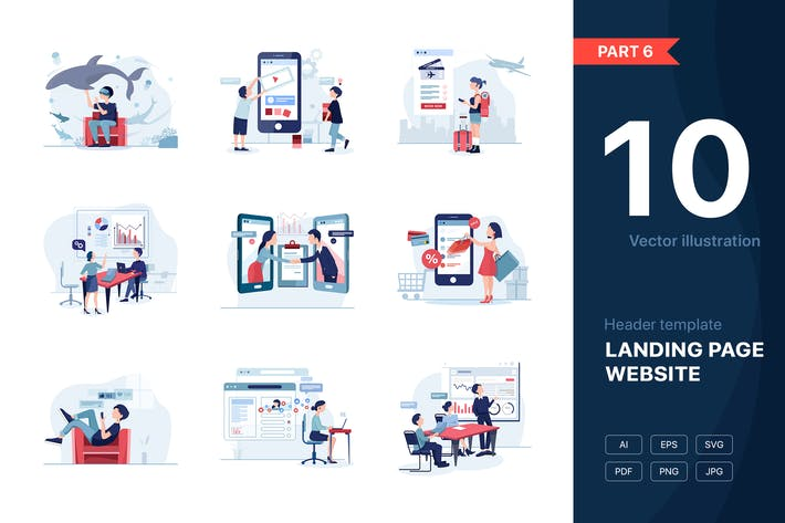 Thumbnail for [Part 6] Website illustrations set