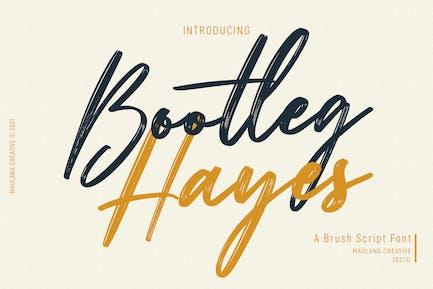 Bootleg Hayes Brush Script Font