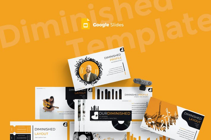Thumbnail for Diminished - Google Slides Template