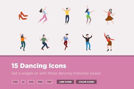 15 Dancing Icons