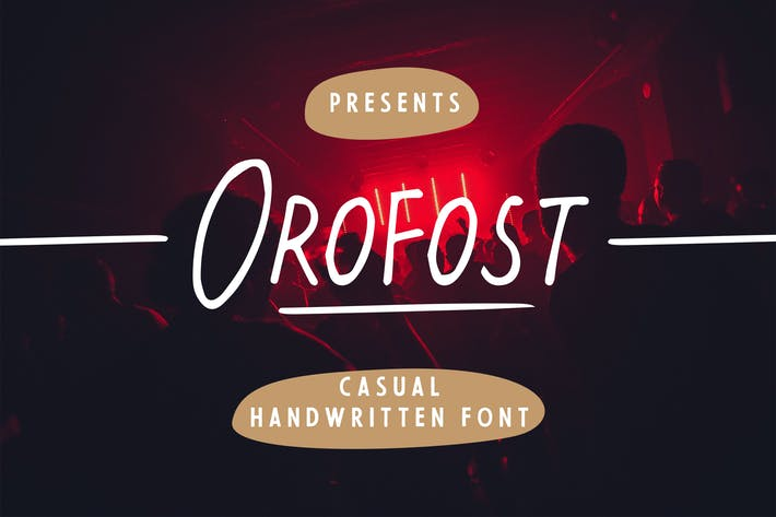 Thumbnail for Orofost - Casual Handwritten Font