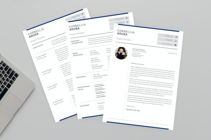 Thumbnail for Aruba Graphic Resume Designer