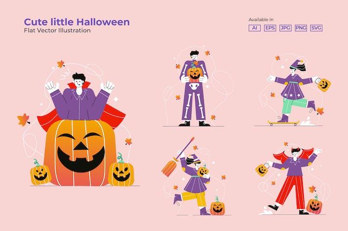 Thumbnail for Cute little Halloween - Vector Illustration
