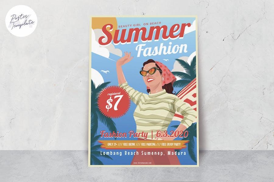 Summer Girl Poster Template