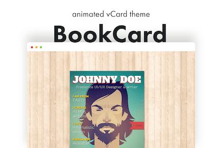 BookCard - 3D Folded vCard WordPress Theme