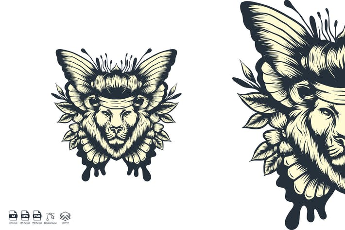 lion butterfly
