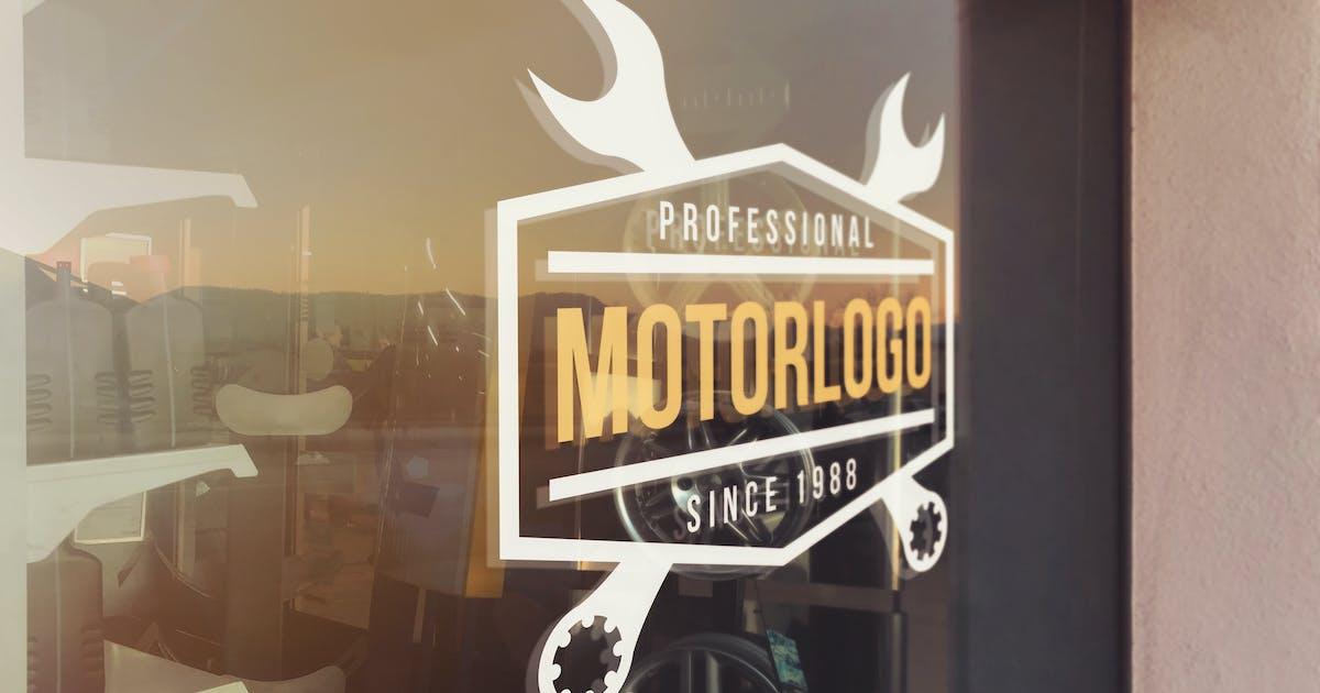 Download Mechanical Glass Logo Mockup by SmartDesigns_eu