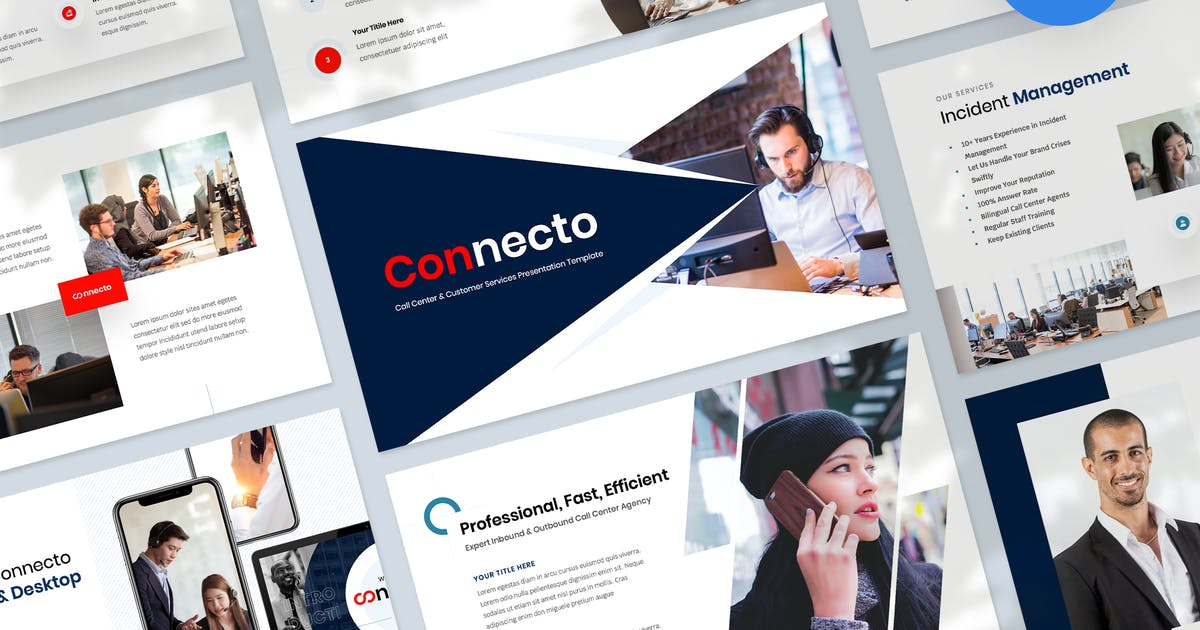 Download Call Center and Customer Keynote Services Template by Krafted