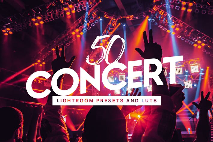 Thumbnail for 50 Concert Lightroom Presets LUTs
