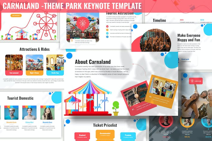 Cover Image For Carnaland - Theme Park Keynote Template