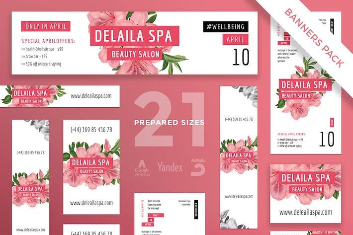 Thumbnail for Beauty Salon Banner Pack Template