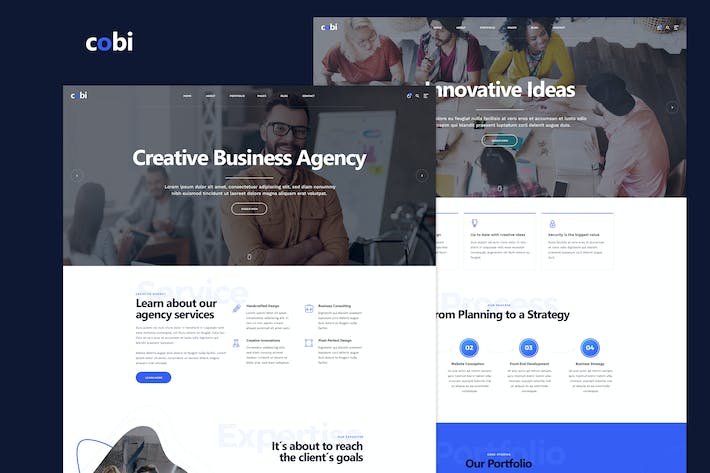 Thumbnail for Cobi - Creative Portfolio PSD Template