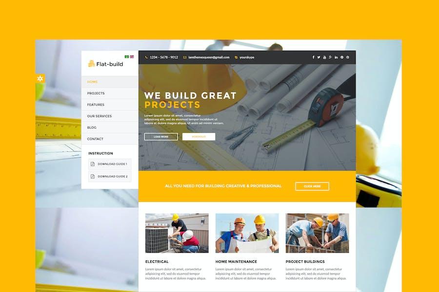 Flatbuild - Plantilla de construcción Joomla