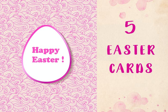 Thumbnail for Hand Drawn Easter Cards