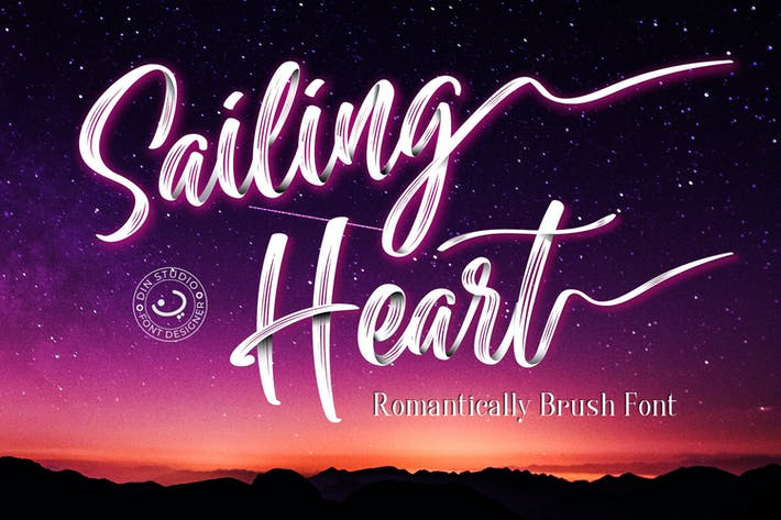 Thumbnail for Sailing Heart - Textured Script Font