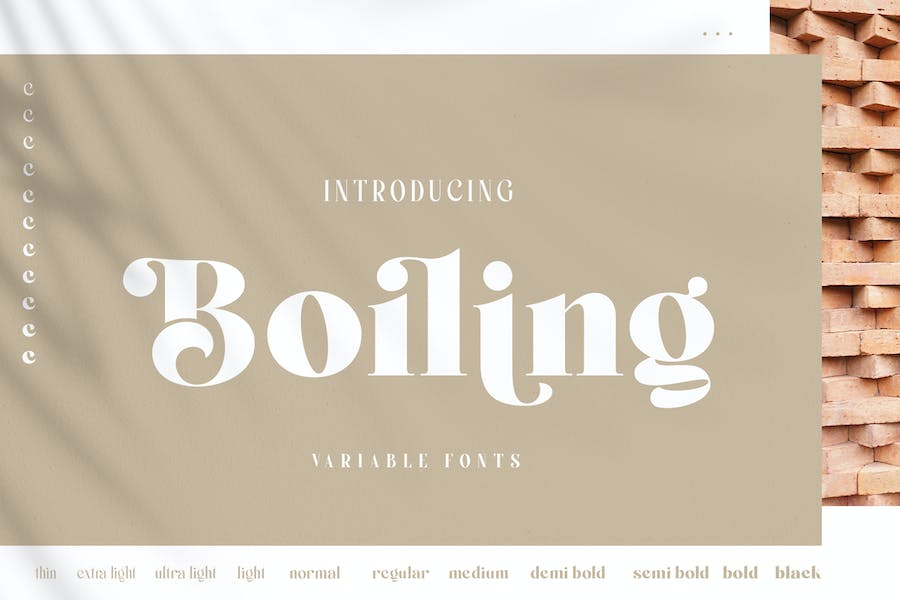 Boiling Font Family