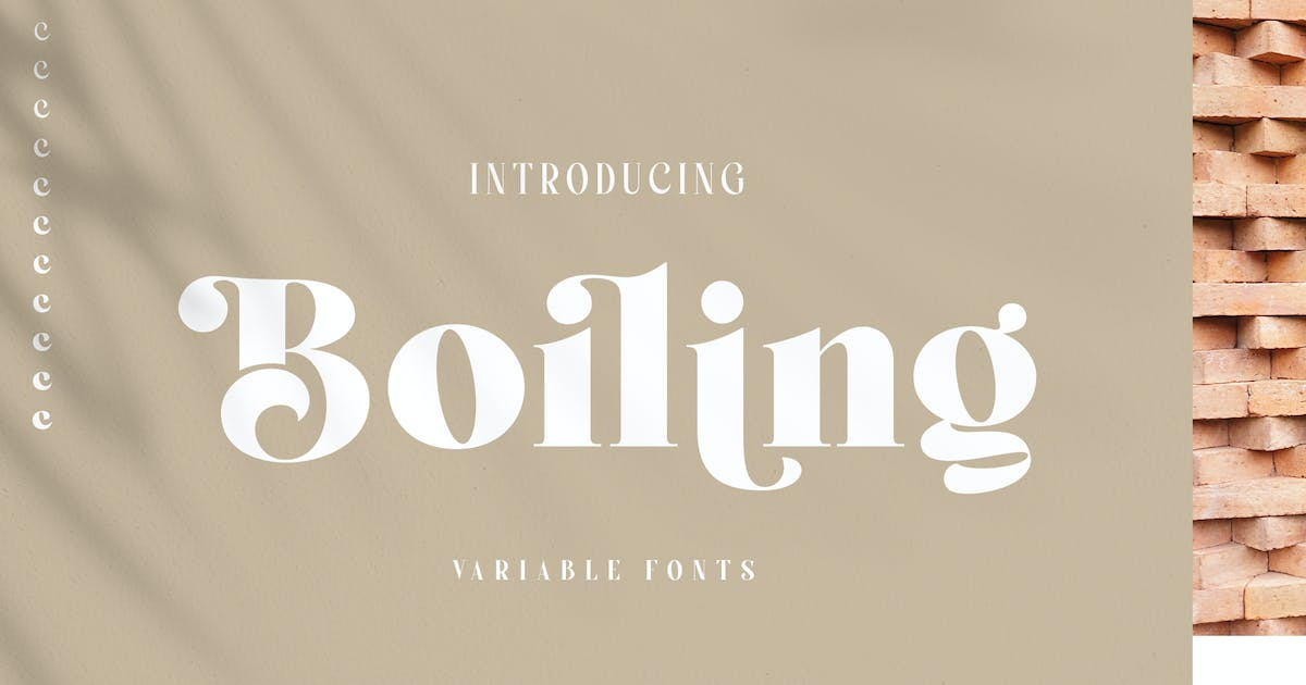 Download Boiling Font Family by alit_design