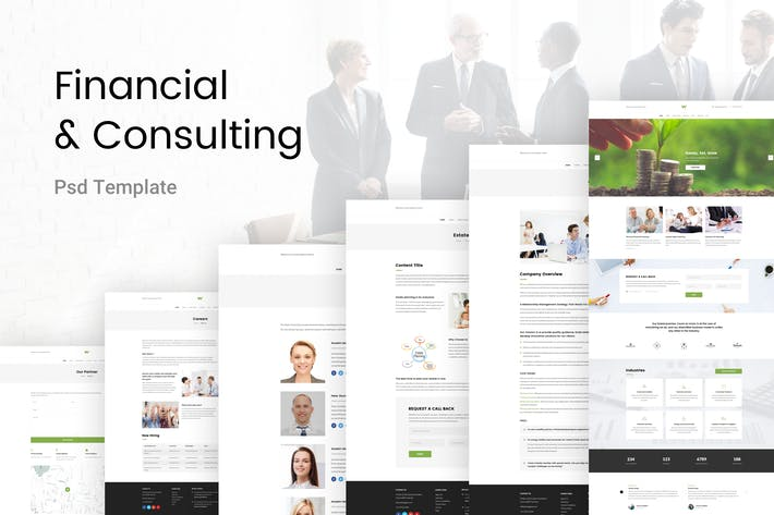 Thumbnail for Financial & Consulting PSD Template
