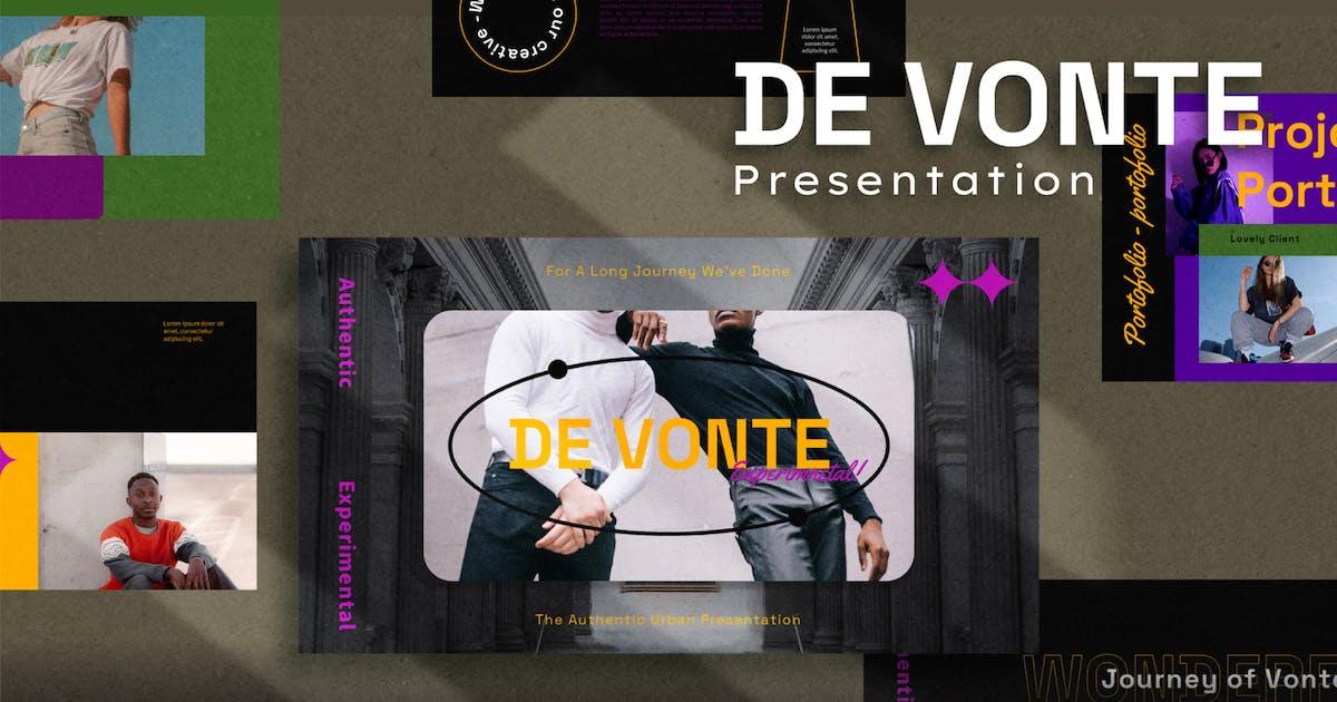 Download De Vonte Keynote Template by axelartstudio