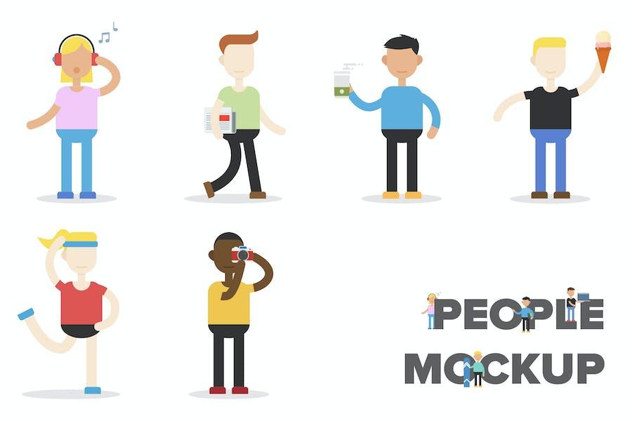 People Flat Mockup